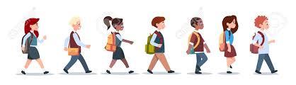 Resultado de imagen de alumnos caminando